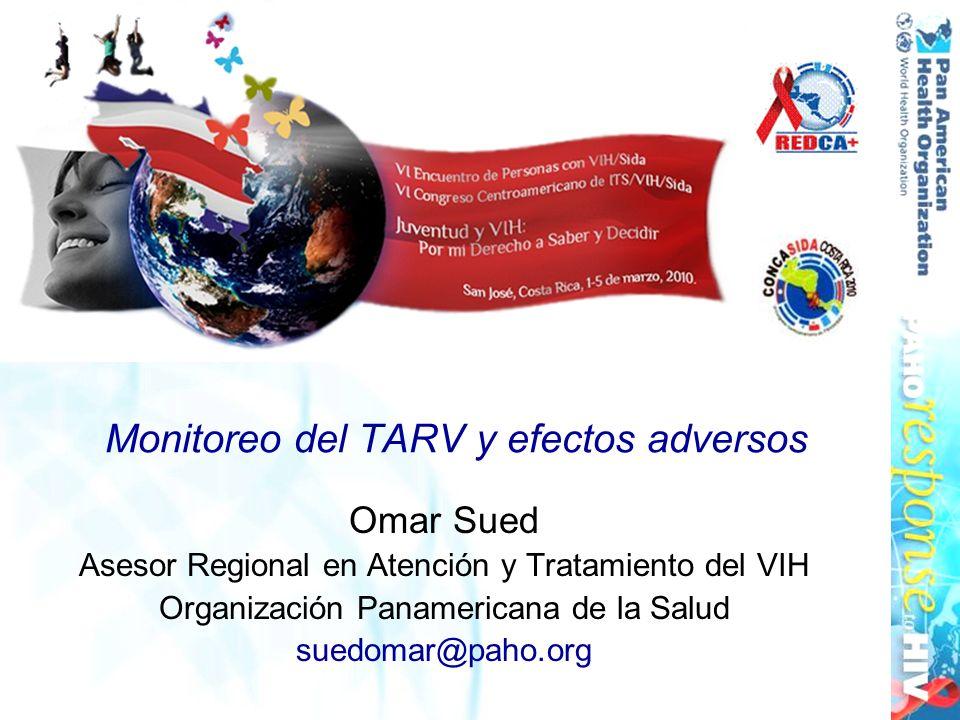 Monitoreo del TARV y efectos adversos