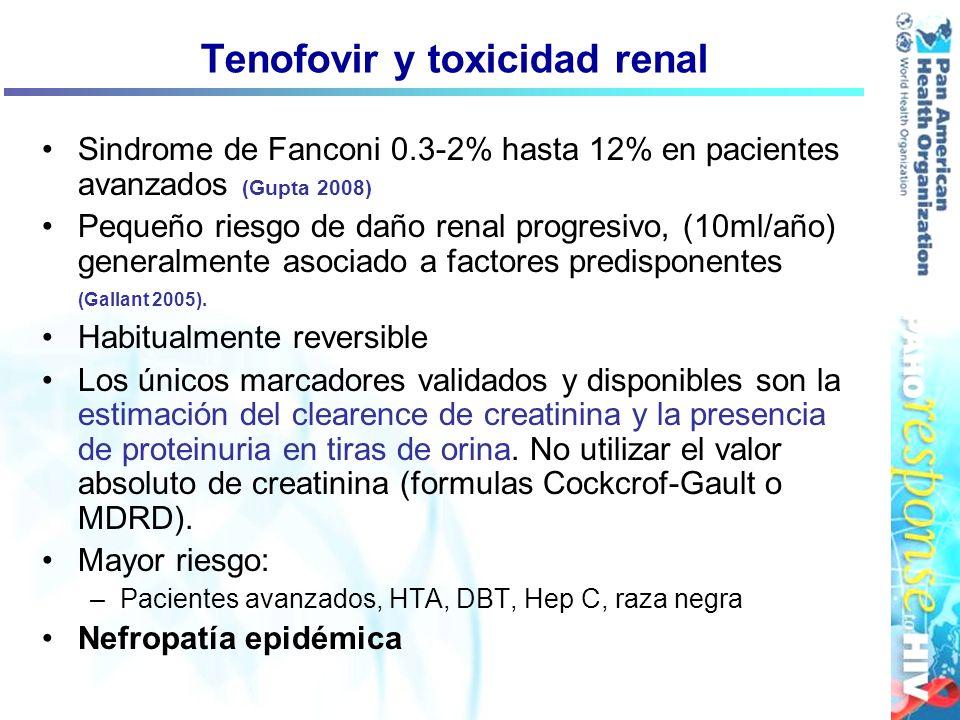 Tenofovir y toxicidad renal