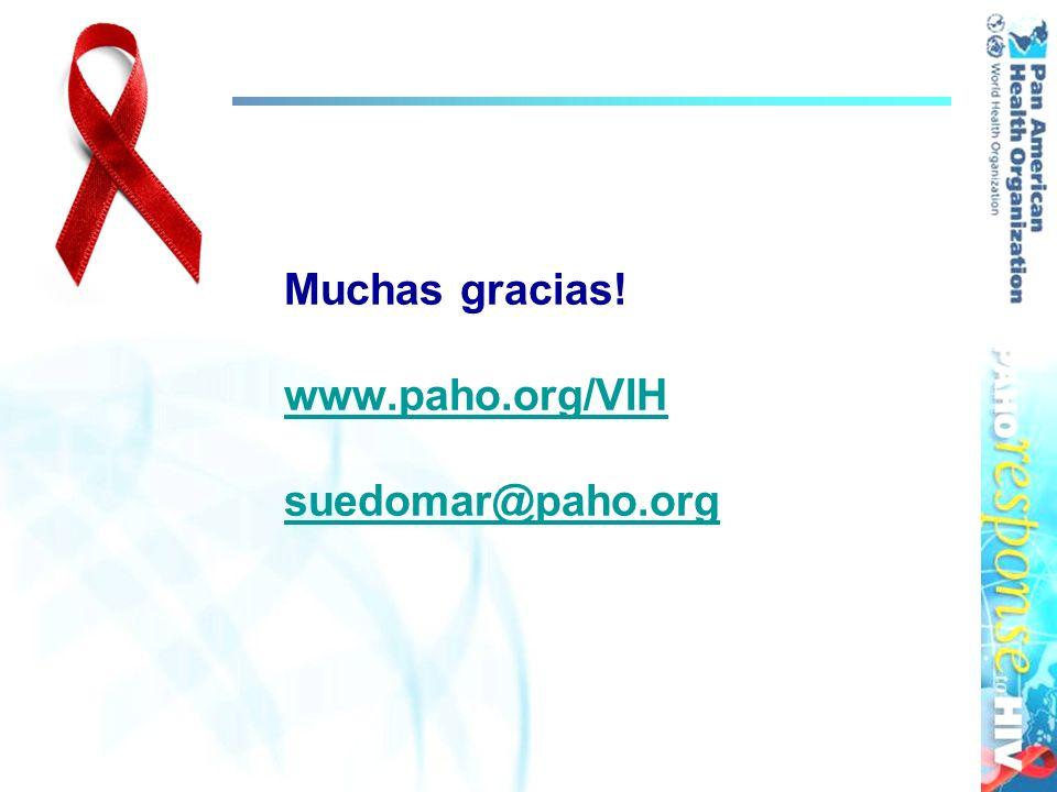 Muchas gracias! www.paho.org/VIH suedomar@paho.org