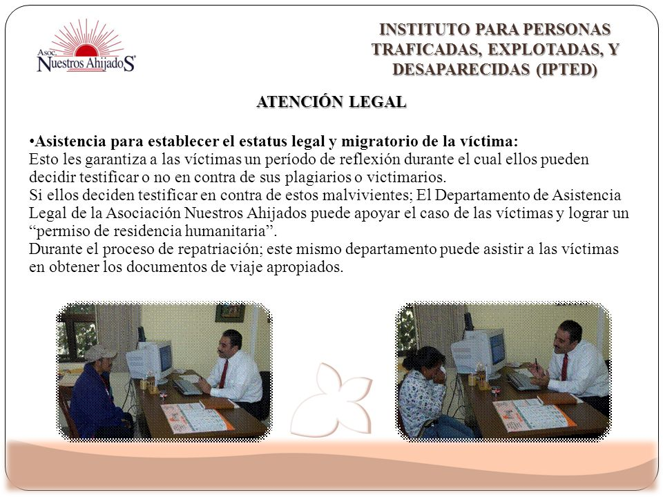 Instituto para personas TraficadAS, ExplotadAS, y DesaparEcidAs (IPTED)