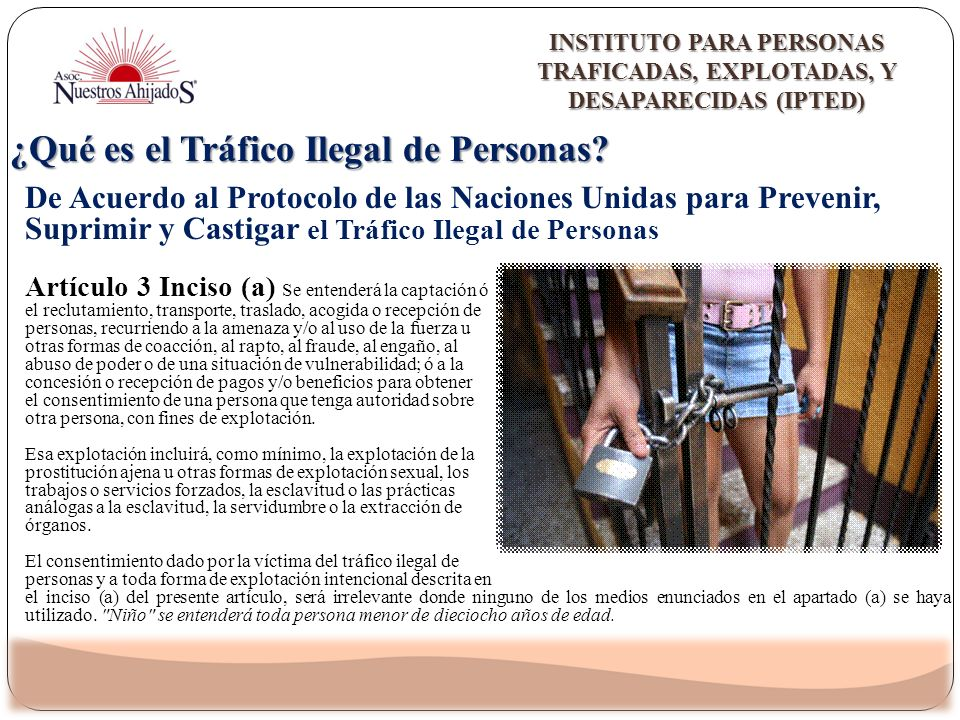 ¿Qué es el Tráfico Ilegal de Personas