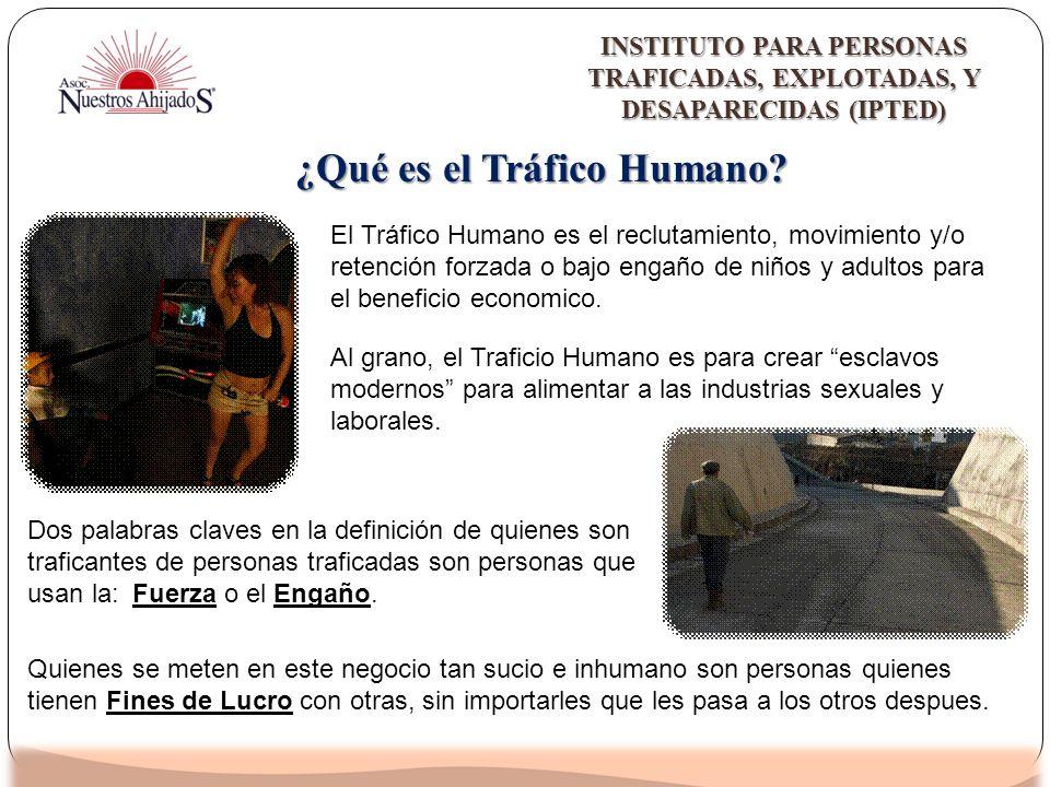 ¿Qué es el Tráfico Humano