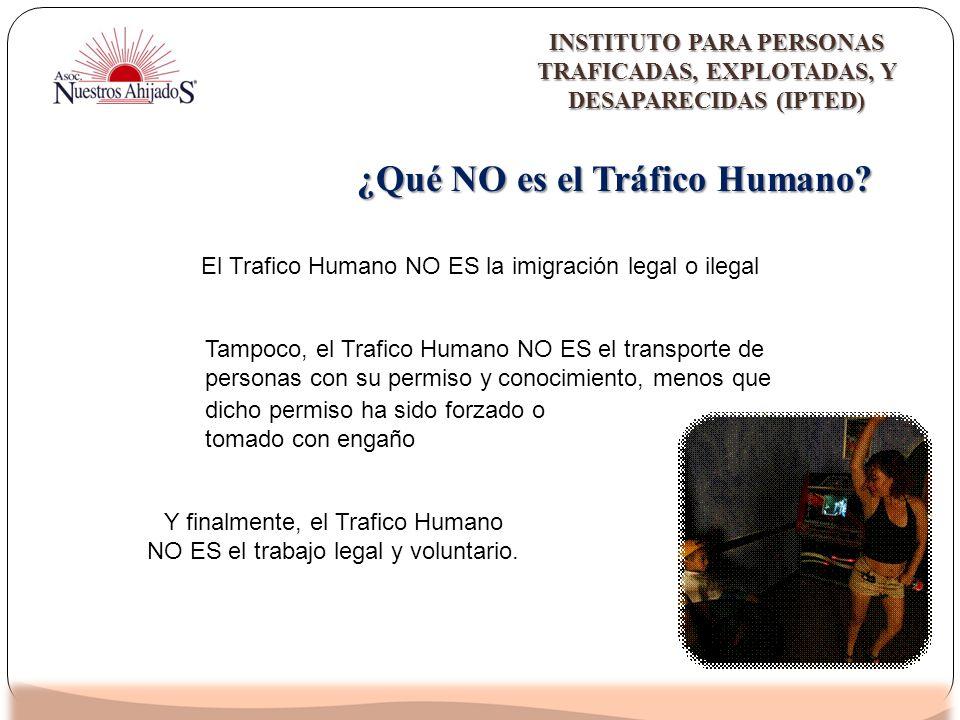¿Qué NO es el Tráfico Humano