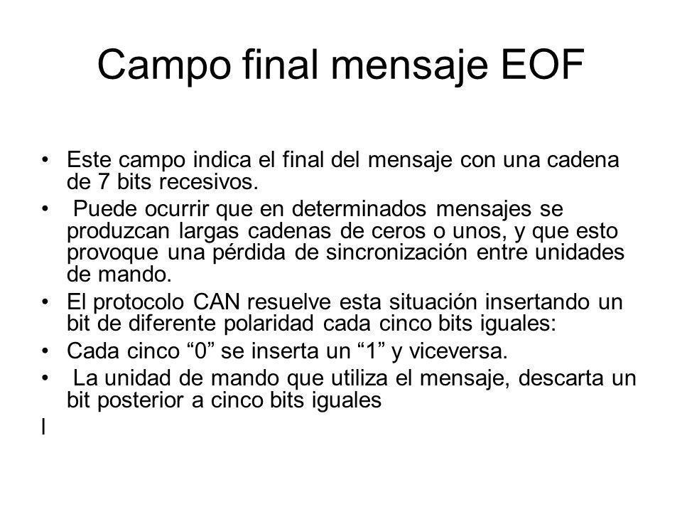Campo final mensaje EOF