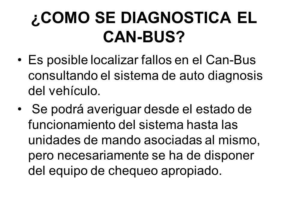 ¿COMO SE DIAGNOSTICA EL CAN-BUS