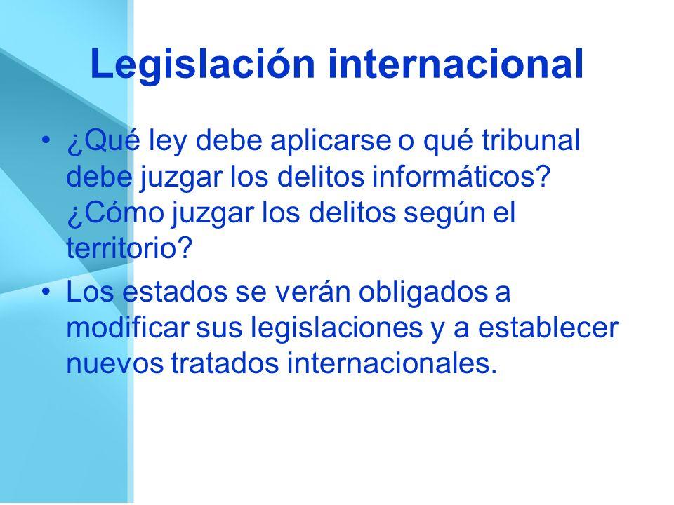 Legislación internacional