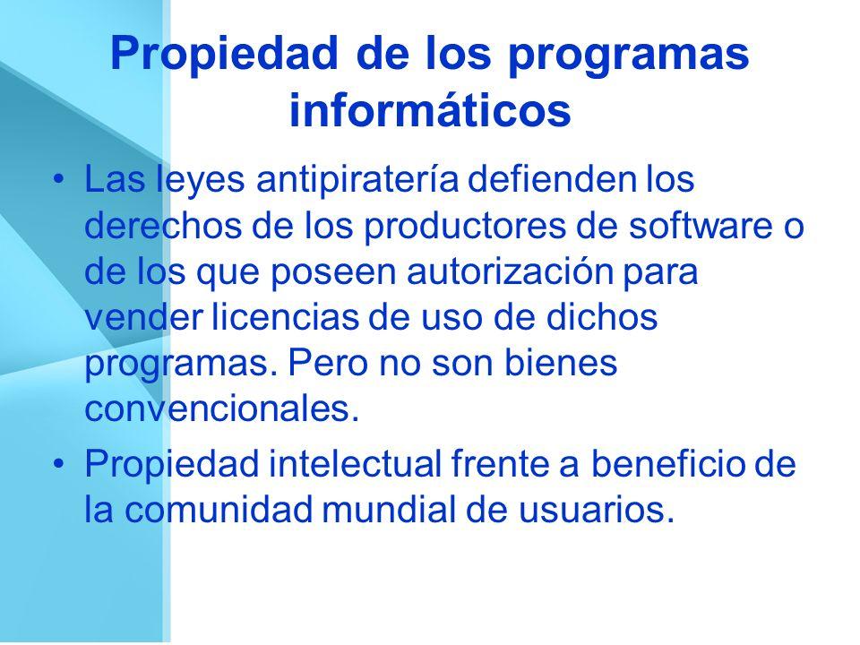 Propiedad de los programas informáticos