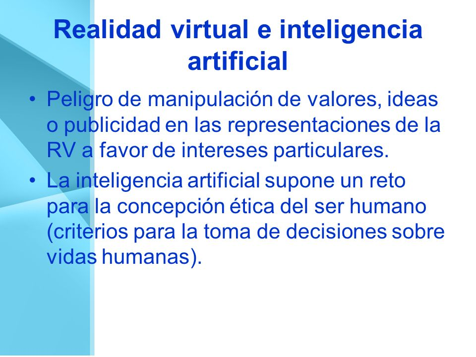 Realidad virtual e inteligencia artificial