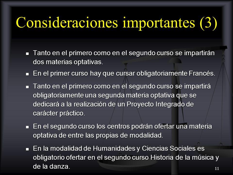 Consideraciones importantes (3)