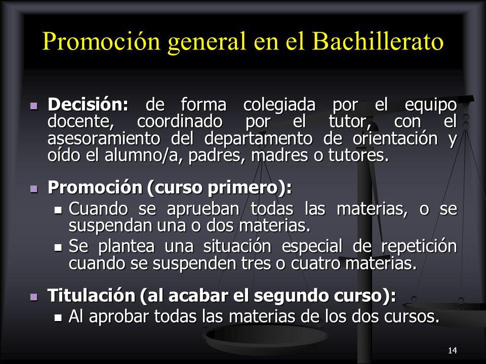 Promoción general en el Bachillerato