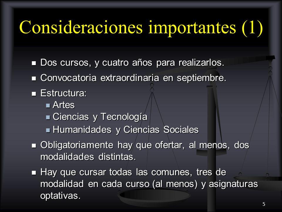 Consideraciones importantes (1)