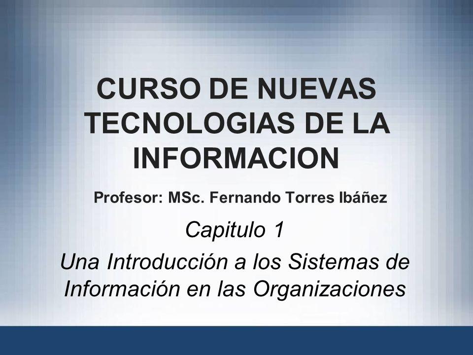 Una Introducción a los Sistemas de Información en las Organizaciones