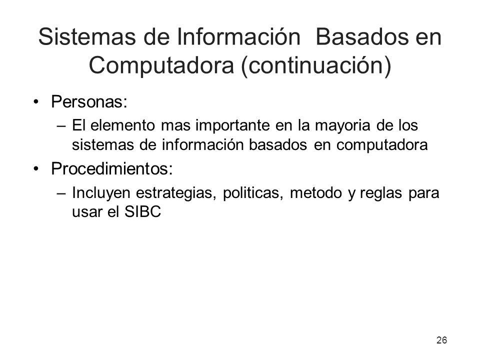 Sistemas de Información Basados en Computadora (continuación)