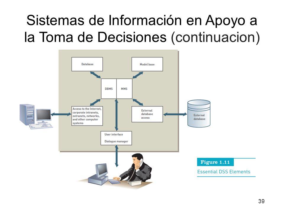 Sistemas de Información en Apoyo a la Toma de Decisiones (continuacion)