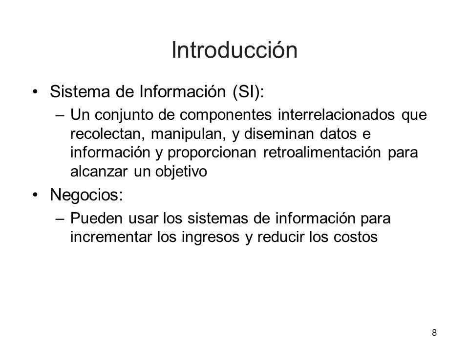 Introducción Sistema de Información (SI): Negocios: