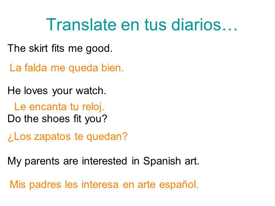 Translate en tus diarios…