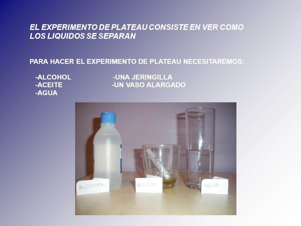 Experimento de plateau ppt descargar for Los nietos se separan