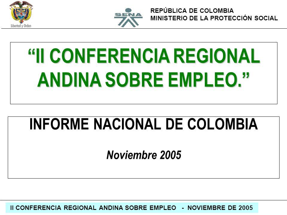 II CONFERENCIA REGIONAL ANDINA SOBRE EMPLEO.