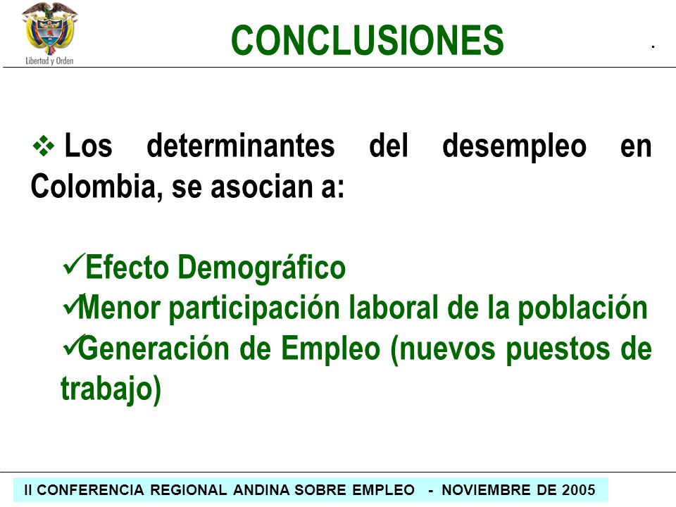 CONCLUSIONES Efecto Demográfico