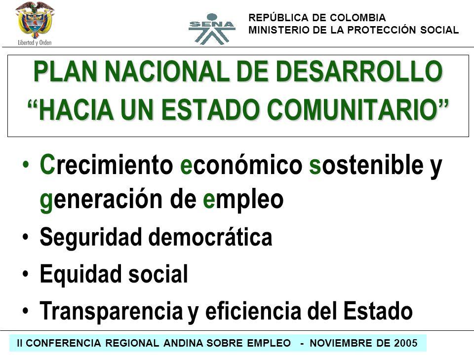PLAN NACIONAL DE DESARROLLO HACIA UN ESTADO COMUNITARIO