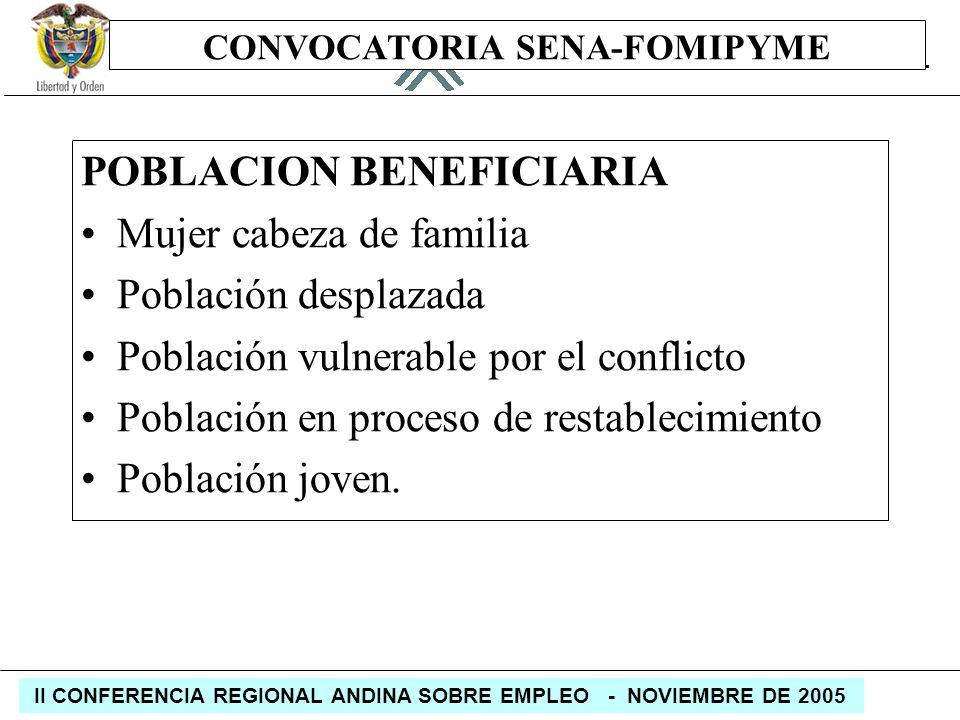 CONVOCATORIA SENA-FOMIPYME