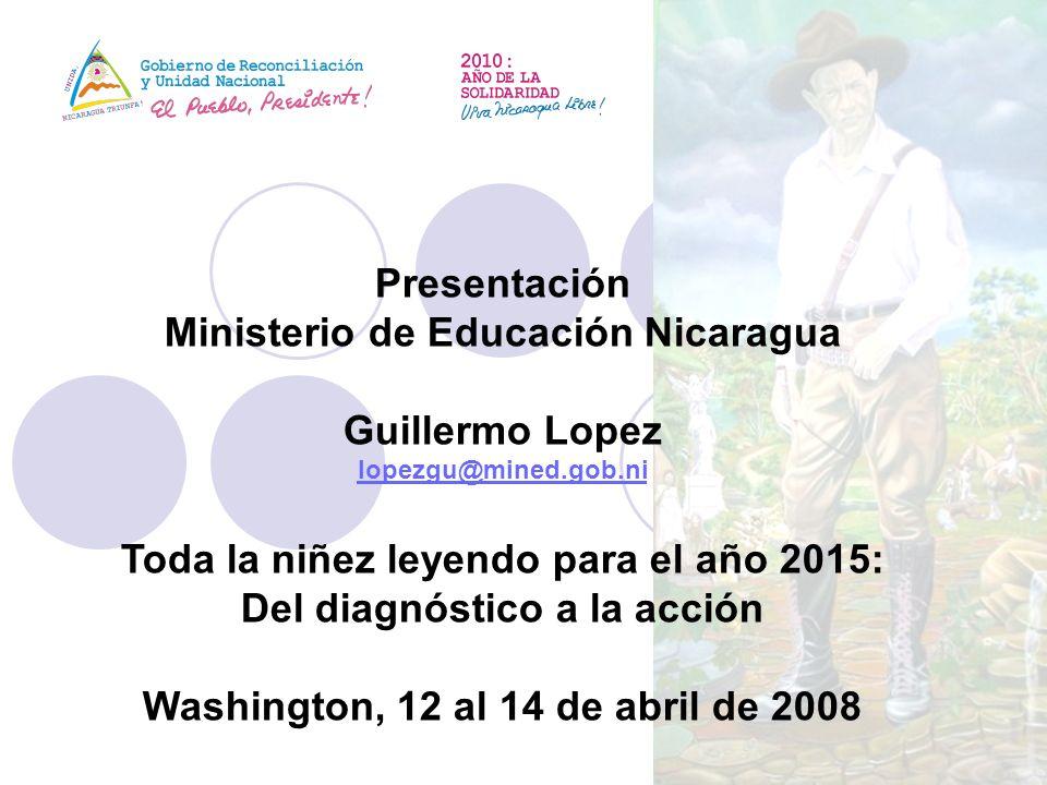 Ministerio de Educación Nicaragua Guillermo Lopez