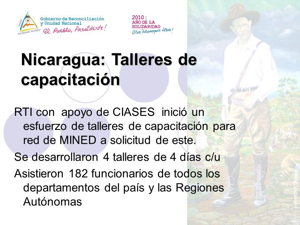 Nicaragua: Talleres de capacitación