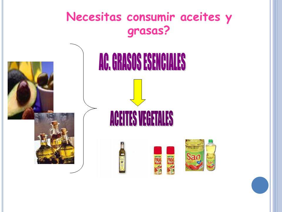 Necesitas consumir aceites y grasas