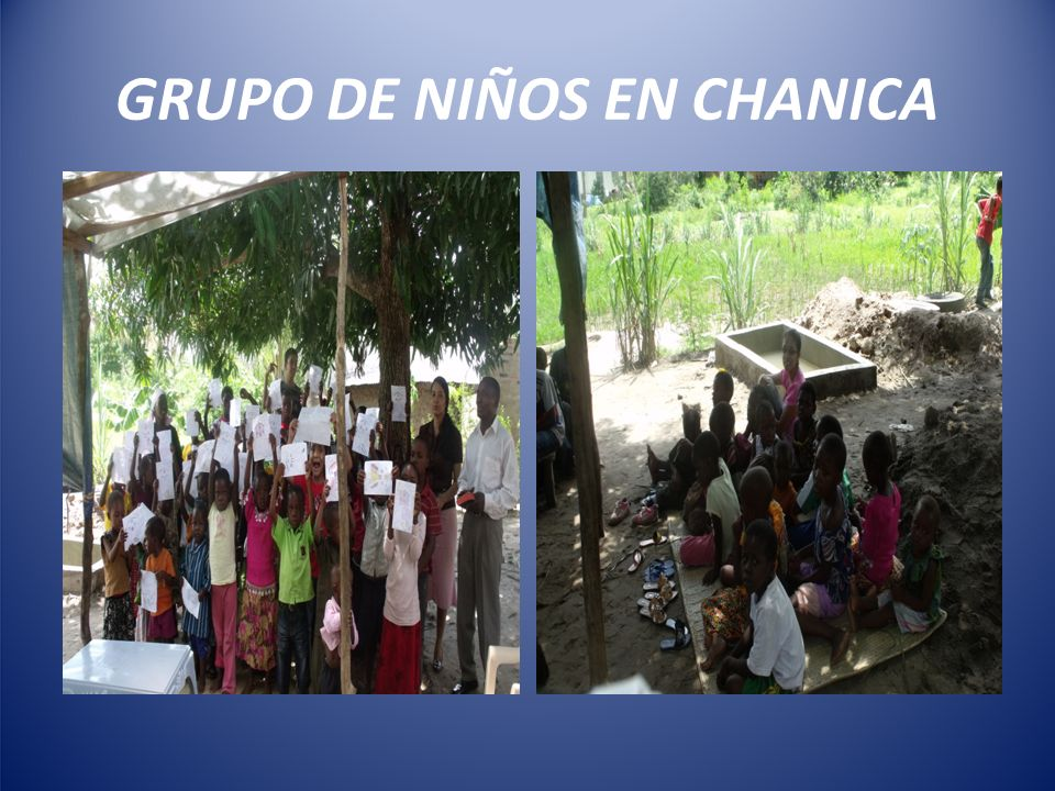GRUPO DE NIÑOS EN CHANICA