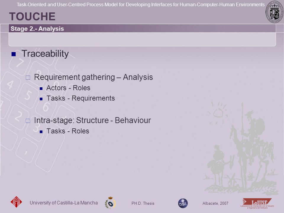 TOUCHE Traceability Requirement gathering – Analysis