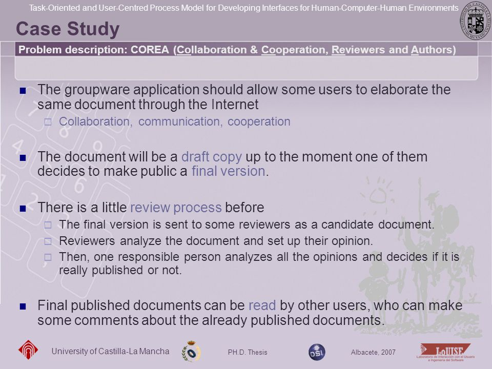 Case Study Problem description: COREA (Collaboration & Cooperation, Reviewers and Authors)
