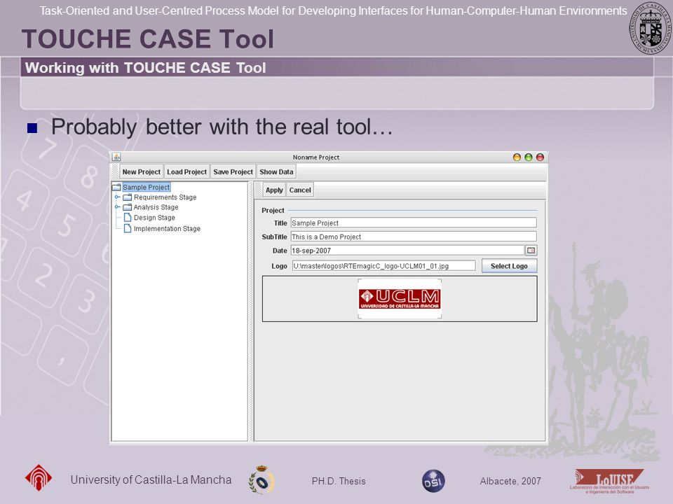TOUCHE CASE Tool Probably better with the real tool…