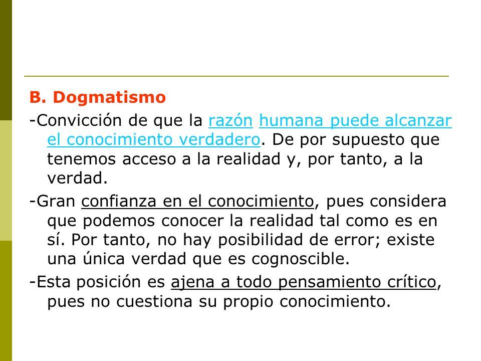 B. Dogmatismo