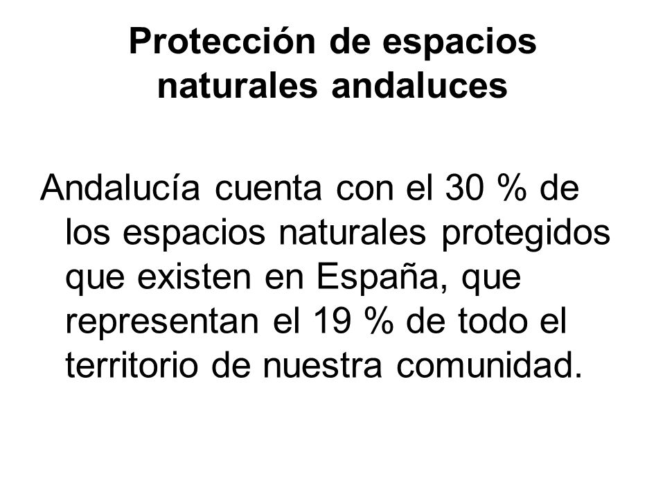 Protección de espacios naturales andaluces