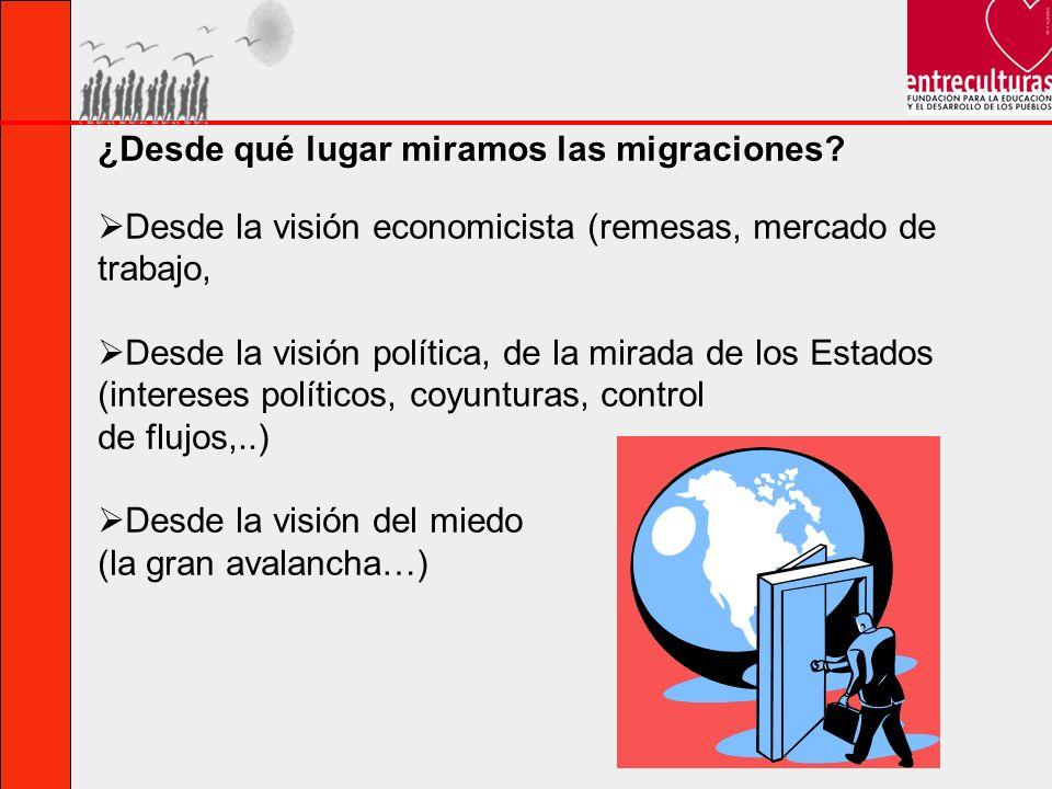 ¿Desde qué lugar miramos las migraciones