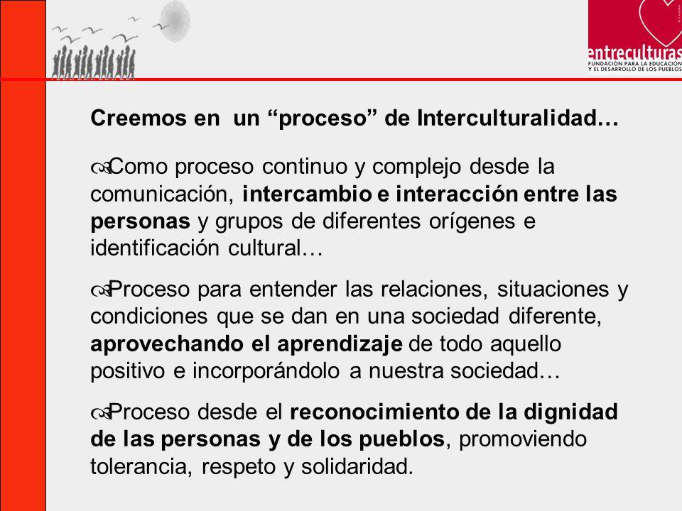 Creemos en un proceso de Interculturalidad…
