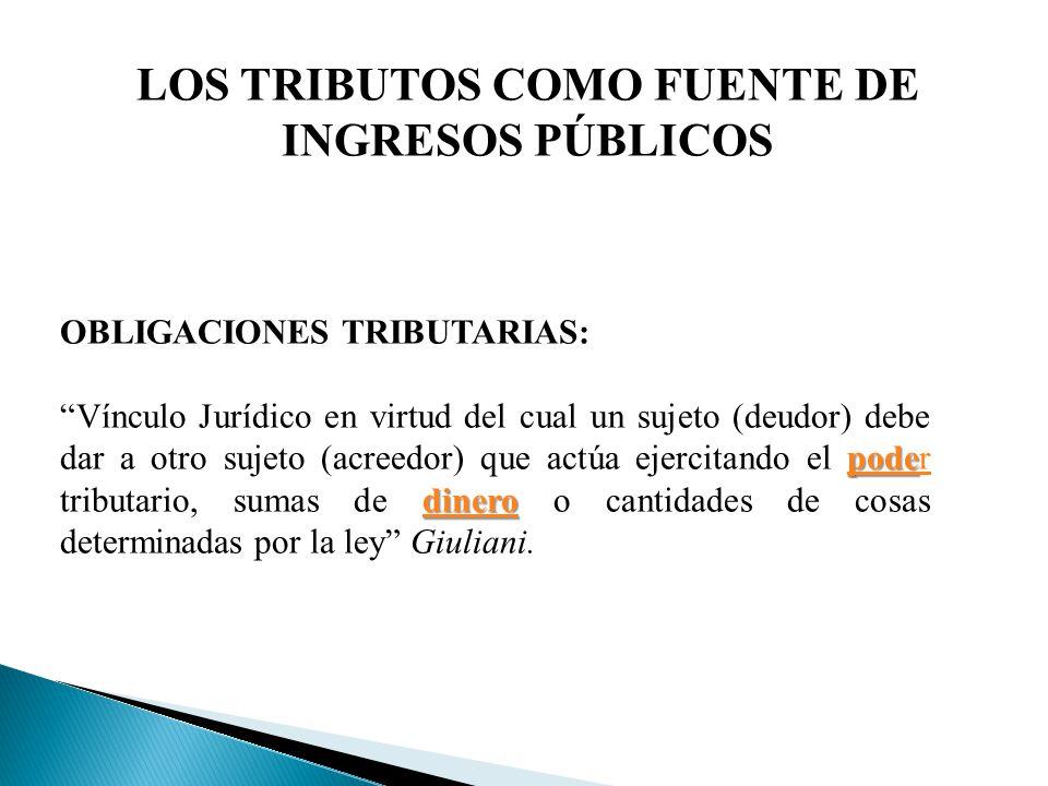 LOS TRIBUTOS COMO FUENTE DE INGRESOS PÚBLICOS