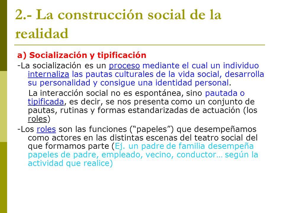 2.- La construcción social de la realidad