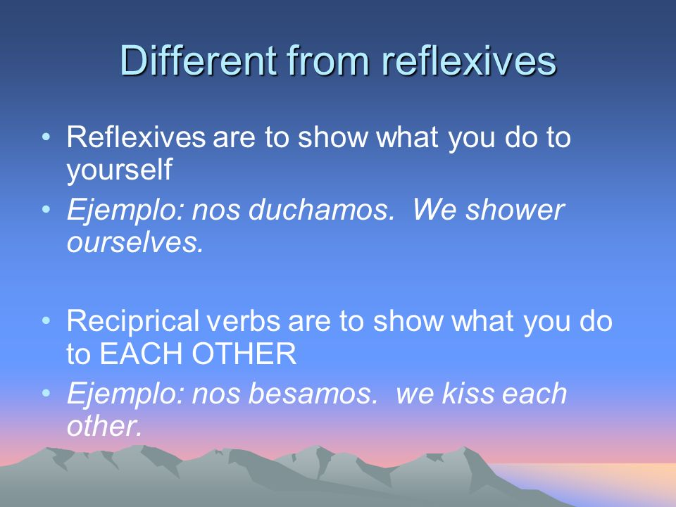 Different from reflexives