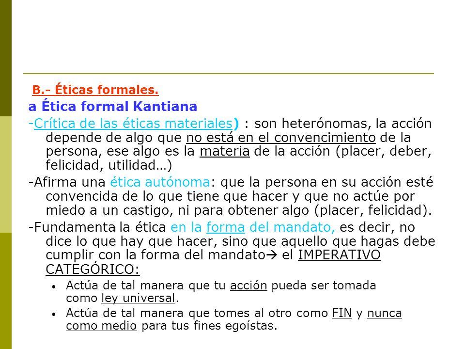 a Ética formal Kantiana
