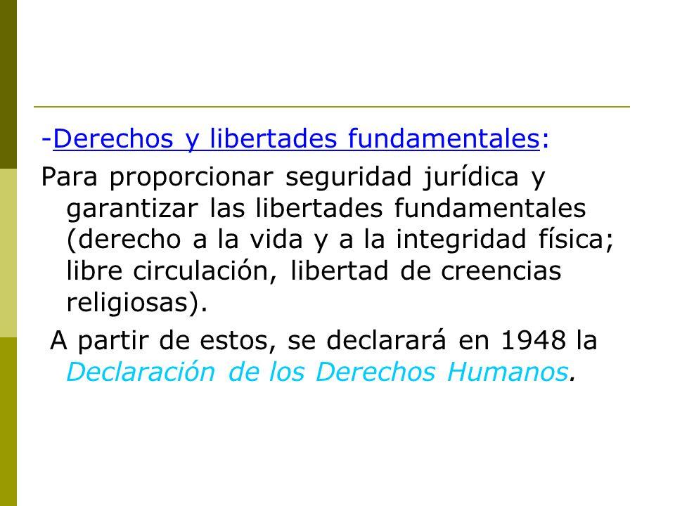 -Derechos y libertades fundamentales: