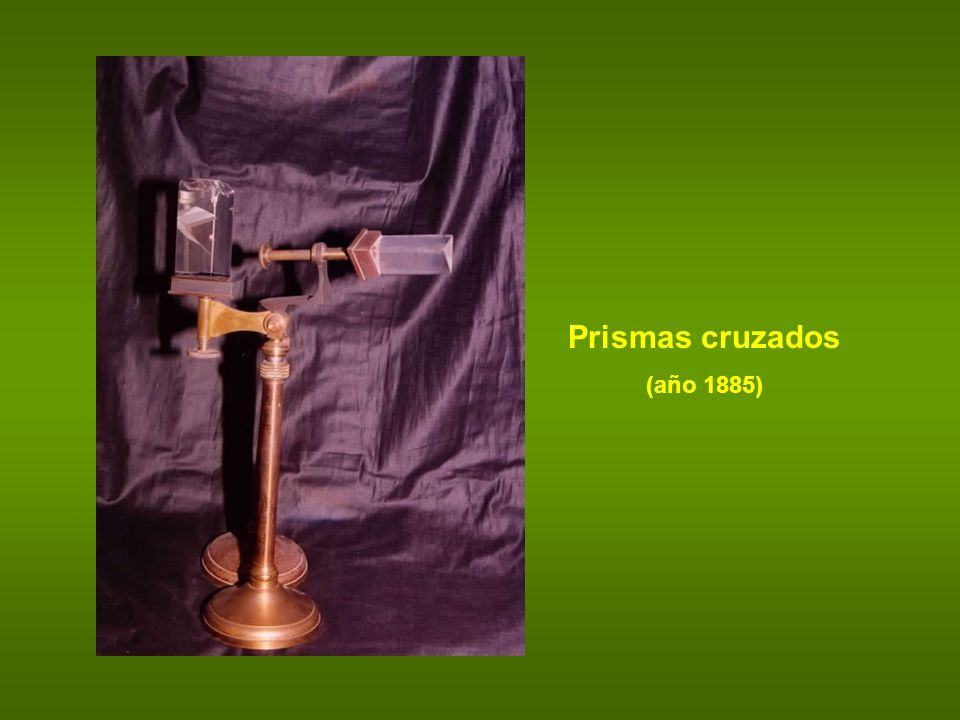 Prismas cruzados (año 1885)