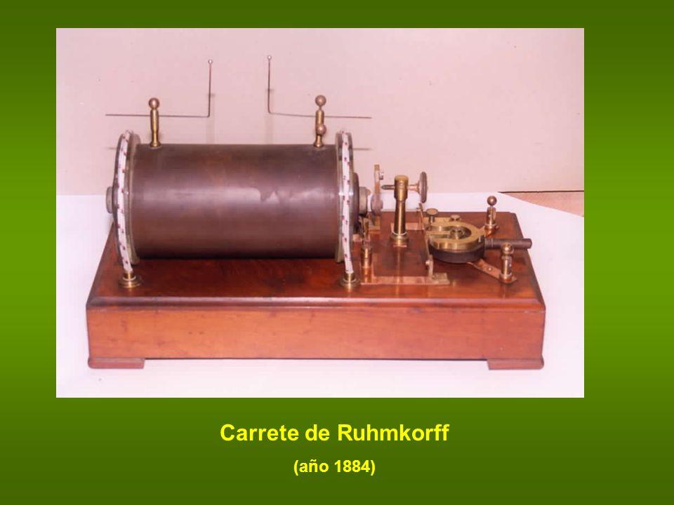 Carrete de Ruhmkorff (año 1884)