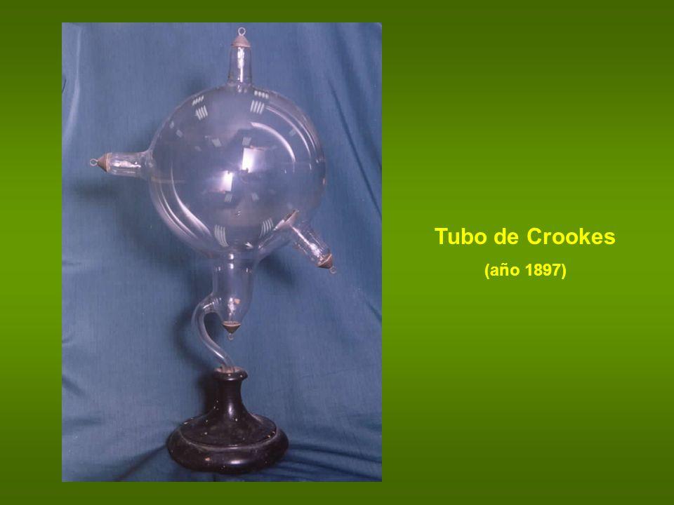 Tubo de Crookes (año 1897)
