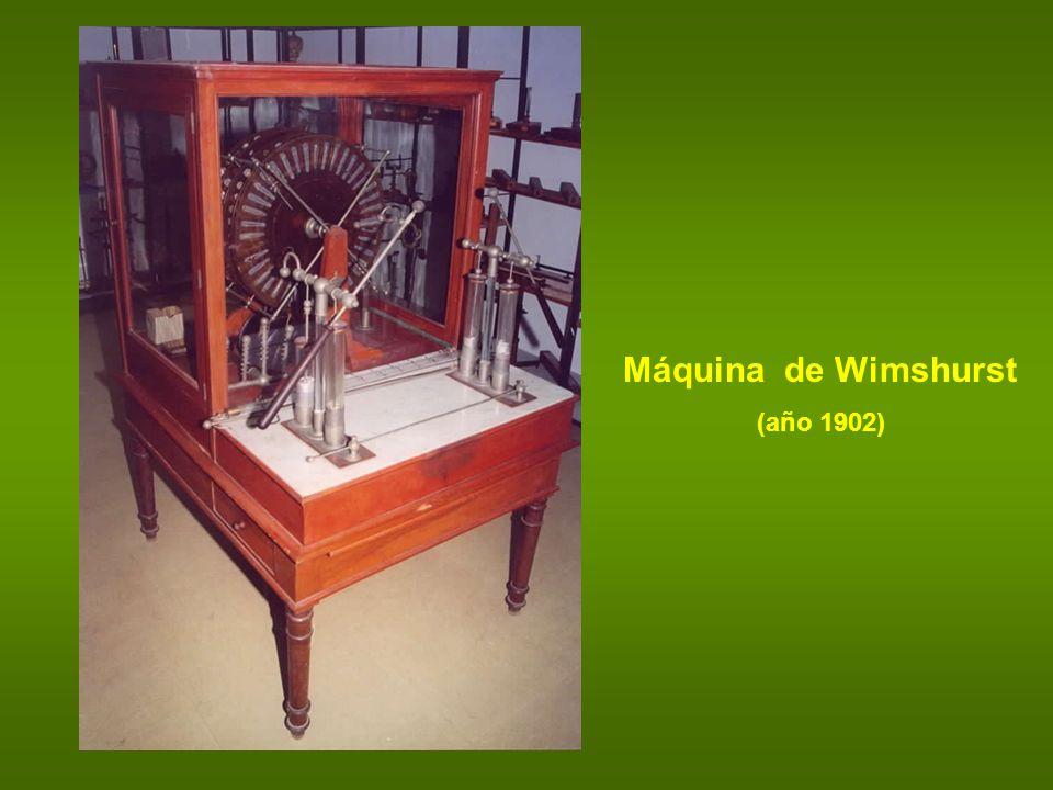 Máquina de Wimshurst (año 1902)