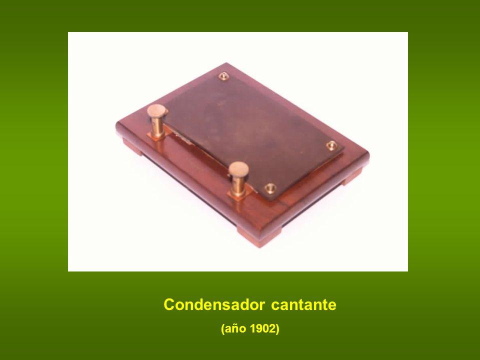 Condensador cantante (año 1902)
