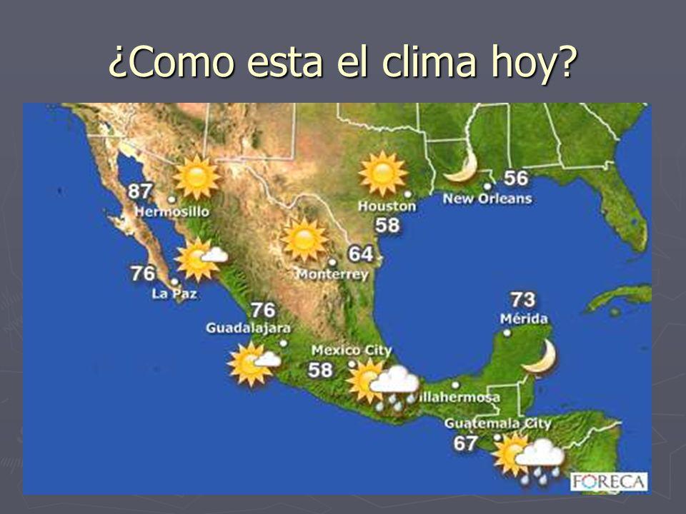 ¿Como esta el clima hoy