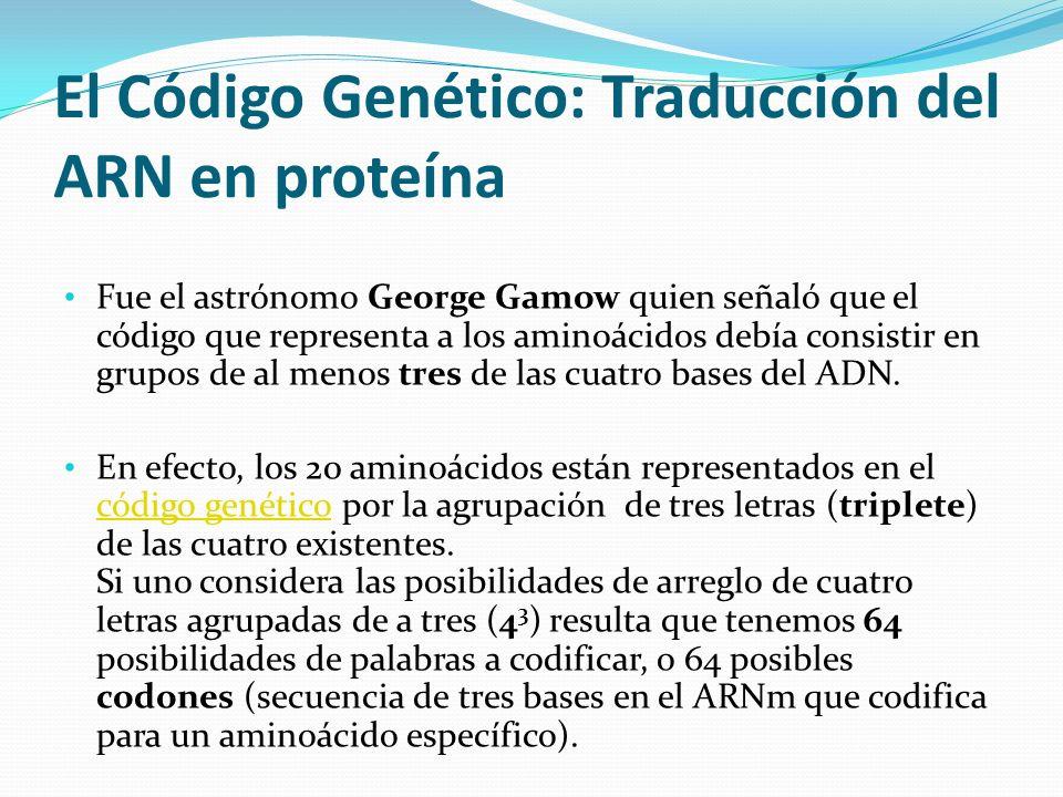 El Código Genético: Traducción del ARN en proteína
