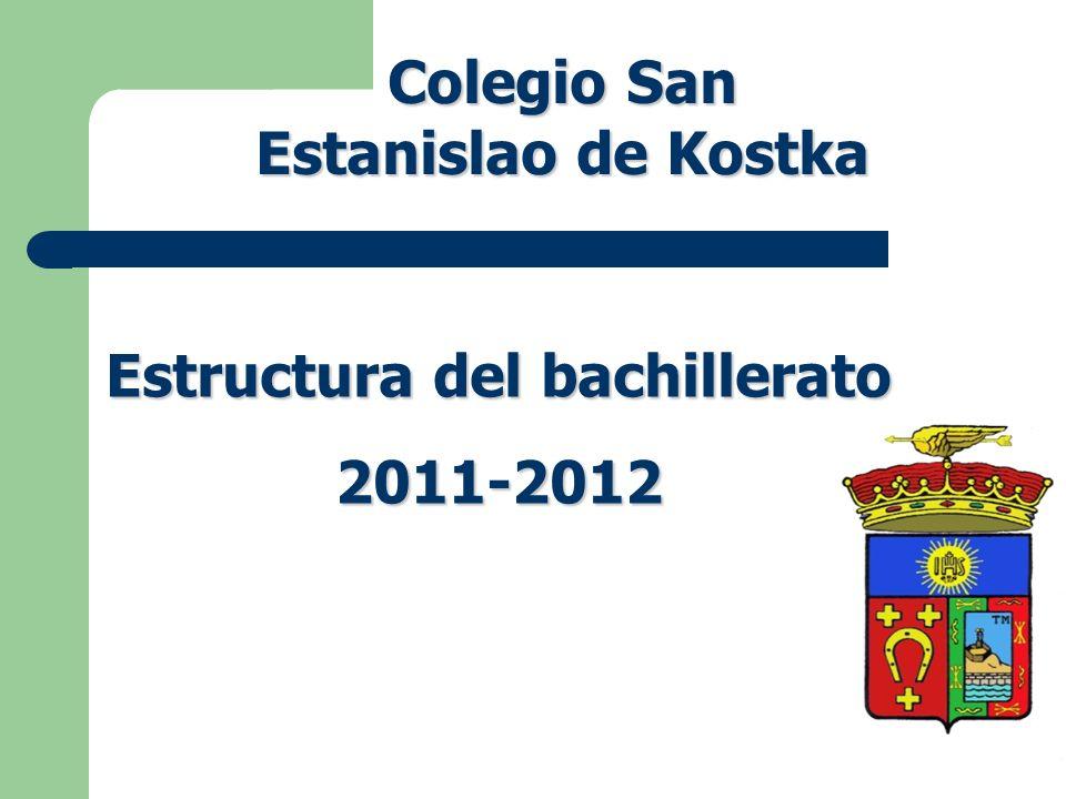 Colegio San Estanislao de Kostka Estructura del bachillerato