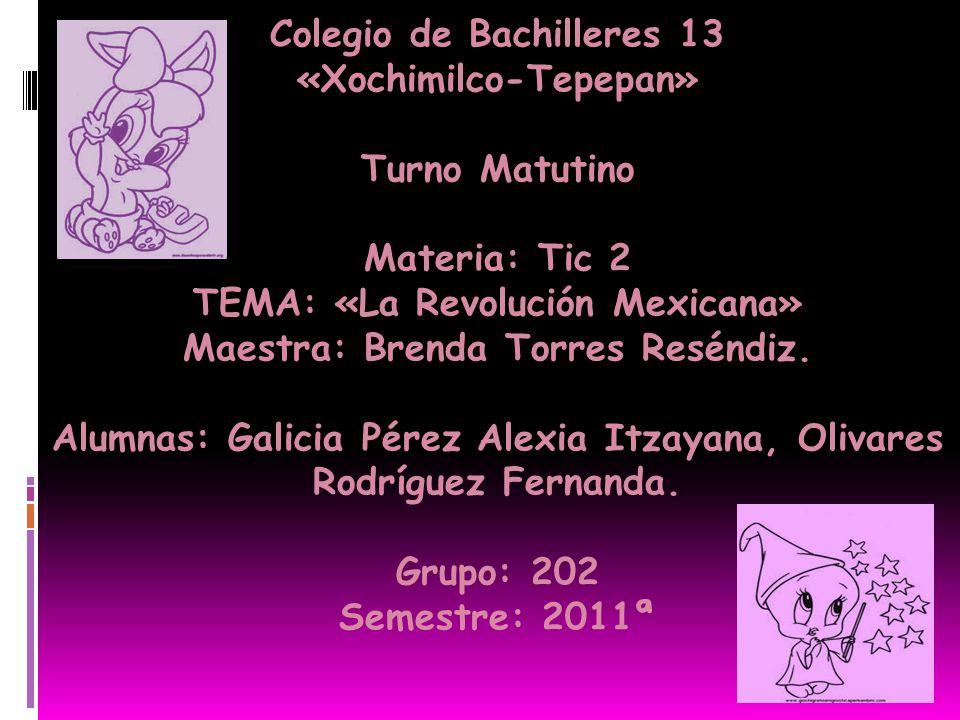 Colegio de Bachilleres 13 «Xochimilco-Tepepan» Turno Matutino